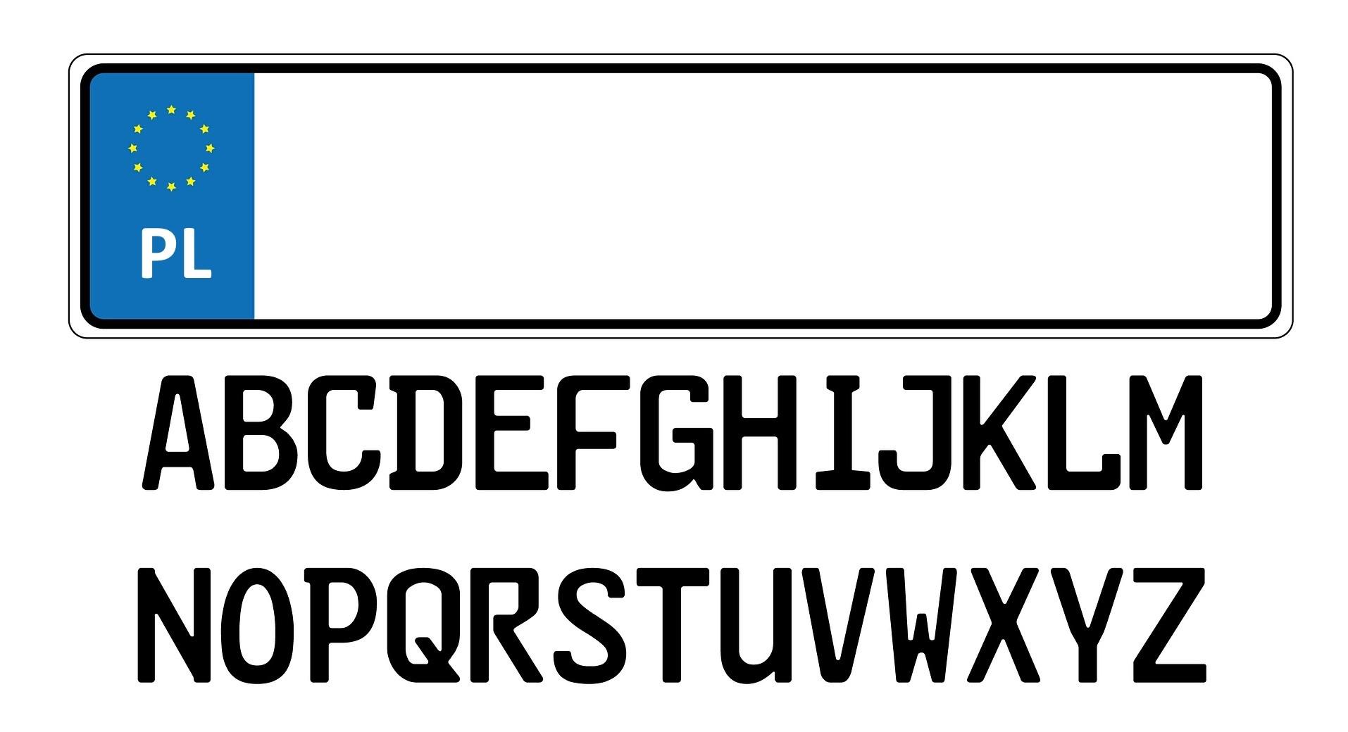 Oznaczenia polskich tablic rejestracyjnych